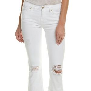 7 For All Mankind Distressed Bootcut Flare Jeans